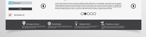 The footer navigation is a common feature of many website designs. [graphic] A generic website's footer navigation menu.