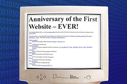 Anniversary of the first website and history of the internet