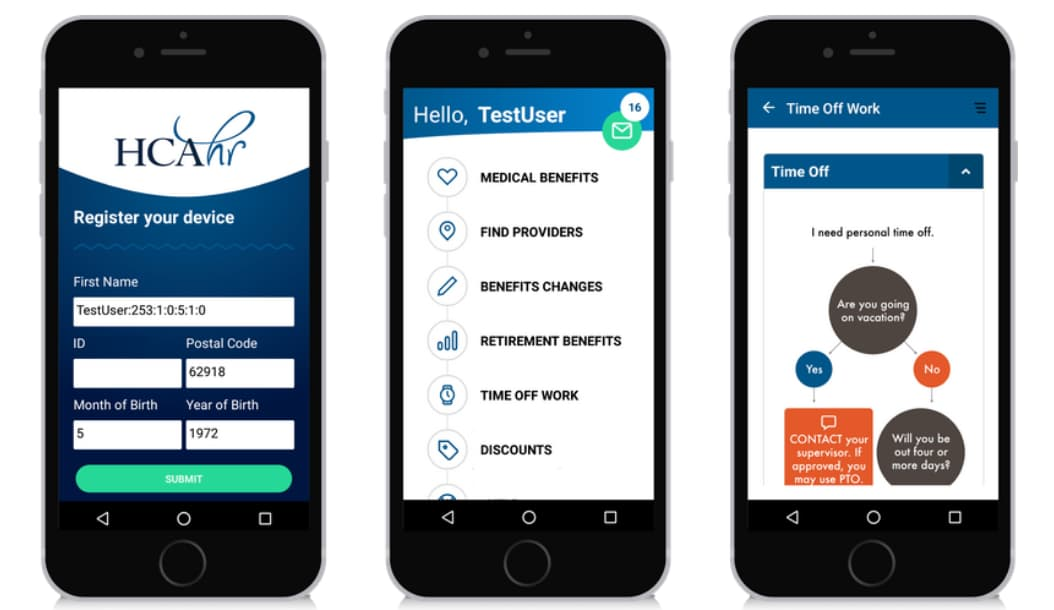HCA Benefits Mobile App provides a smooth experience for employees