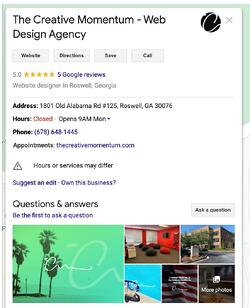 Local Trust Pack Benefits for SEO example of Google My Business directory listing