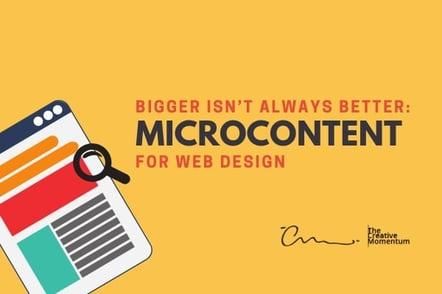 Microcontent for Web Design