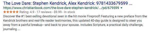 Good User Experience in the SERPs