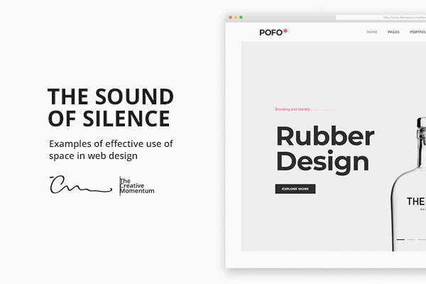 The Sound of Silence: 5 Examples of Effective Use of Space In Web Design