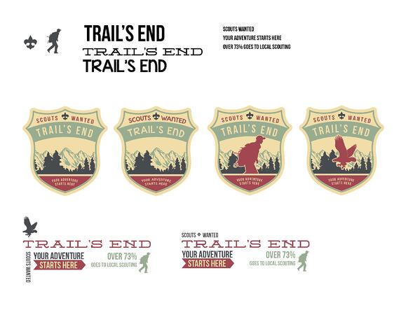 Web design agencies create different logo options for clients to choose from. Here are different options for Trail's End.