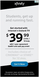 Xfinity Display Ad