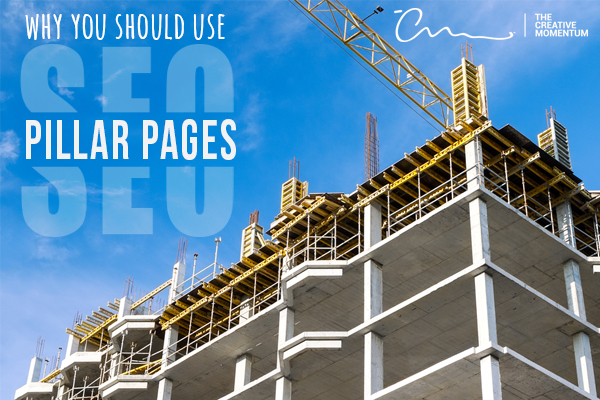 Pillar pages are the foundation of successful content SEO strategy. A building's pillars are exposed during construction.