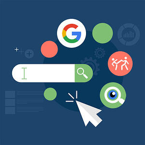 PPC campaigns need strategy, and strategy comes from using the right tools to assess data. [graphic] A search bar surrounded by three icons - Google's G, stick men fighting, magnifying glass.