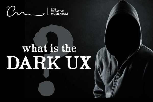 What is the dark ux? Empty black hoodie faces the camera, on black background with question mark.