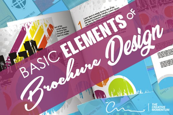 Learn essential elements of the best brochure design. Background - brochures, The Creative Momentum Full Service Agency.
