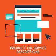 Make sure your ecommerce landing pages contain detailed product or service descriptions.