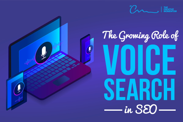Voice search is an important, growing part of SEO - are you prepared? [graphic] Microphone icons hover in front of a laptop, tablet, and phone.