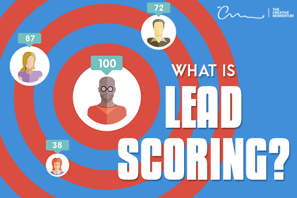 What is lead scoring? - A target scattered with people icons and their respective scores