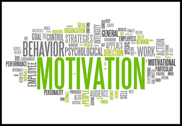 Word clouds are a useful way to perform keyword research on your competition - word cloud centering on motivation.
