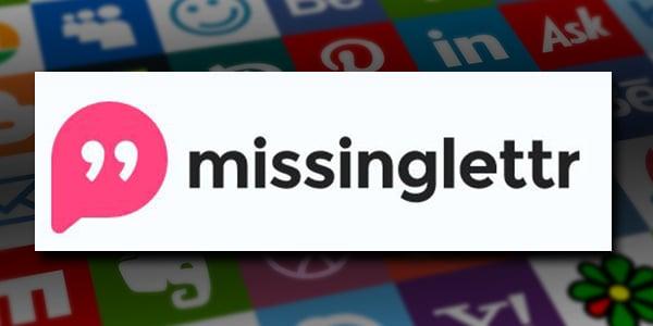 missinglettr is a social media marketing tool that turns your blogs into social media posts. missinglettr's logo.