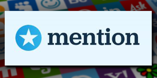 Mention is a social media marketing tool that tracks mentions of your brand. Mention's logo.