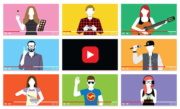 Micro influencers have less followers but more engagement - many influencers at various points of a video