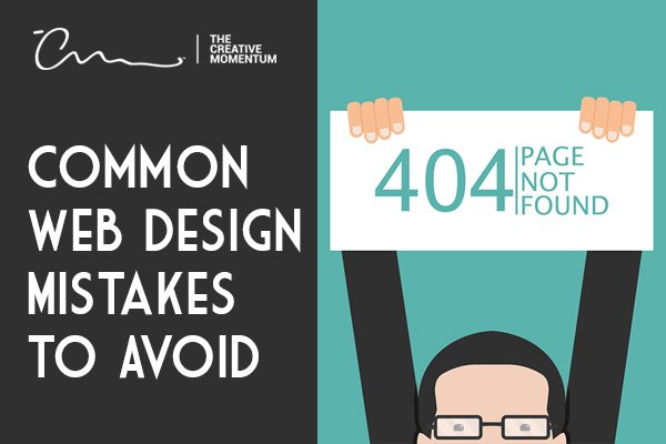 Common web design mistakes - man holding 404 page not found sign