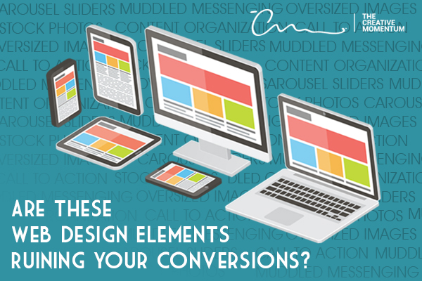 What's wrong with my website? These web design elements the problem - phone, monitor, laptop