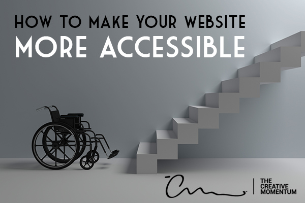website ada compliance - how to make your website more accessible - a wheelchair sits at the bottom of stairs
