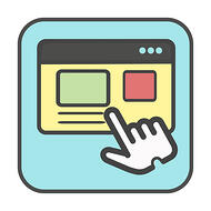 Web Design for the Internet of Things - Icon of finger pointing over a website representing user interface