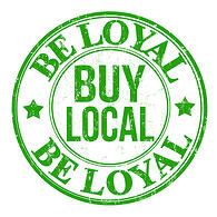 """Google Local Trust Pack Benefits for SEO - stamp says """"be loyal, buy local"""""""