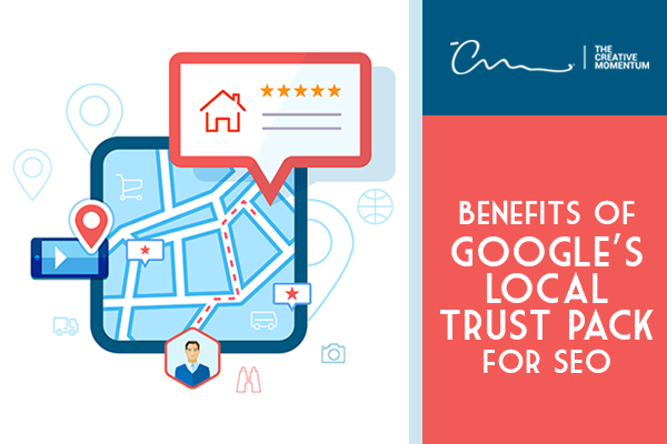 Google Local Trust Pack Benefits for SEO - a local ad shown on a map displays five stars
