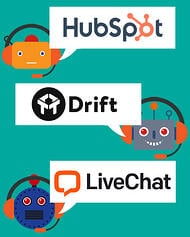 Some of the top chatbots for websites include HubSpot, Drift and LiveChat - chatbot avatars