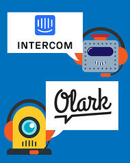 Some of the top website chatbots are Intercom Inbox and Olark - chatbot avatars with chat bubbles