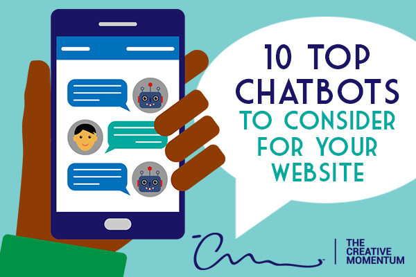 top chatbots for website - Here are the ten best chatbots websites - hand holding mobile phone displaying chat conversation