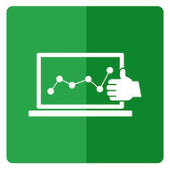 One of the most important PPC KPIs is the Google quality score - a laptop screen depicts a line graph