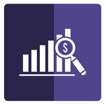 One of the most important PPC KPIs is cost per click (CPC) - a bar graph with a magnifying glass