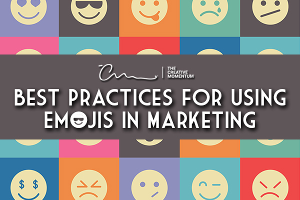 Read here to learn the best practices for using emojis in marketing by The Creative Momentum- emojis in the background