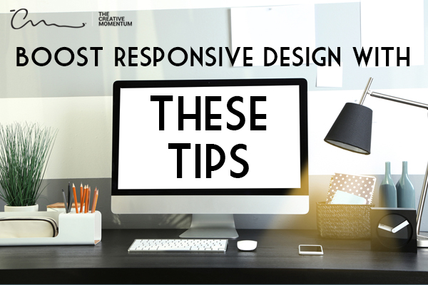 Boost your website responsive design with these tips - iMac monitor sitting on a work desk