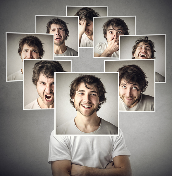 You can use a range of emotions in your PPC campaigns. Head shots of the same man showing different emotions.