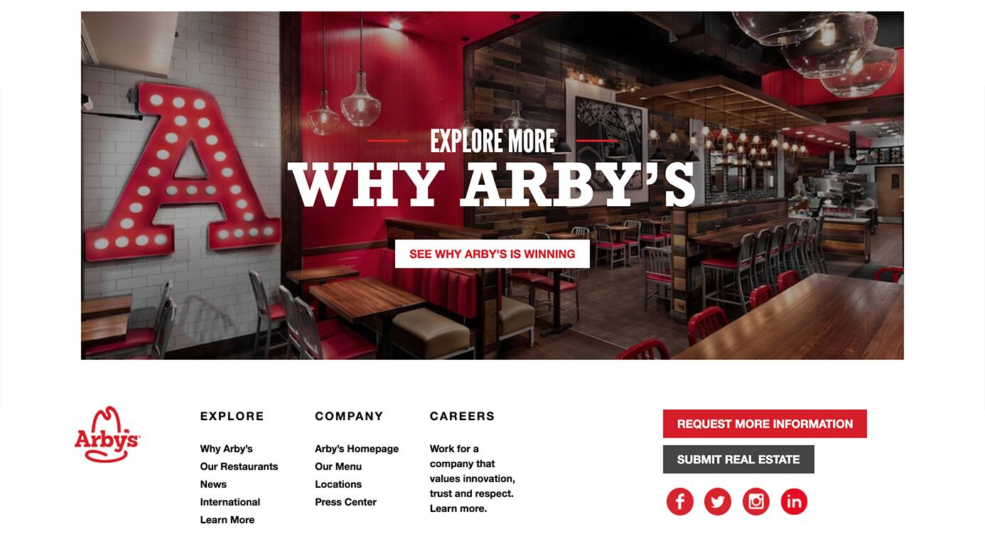 Arby's Franchising | The Creative Momentum - Web Design & Digital Marketing