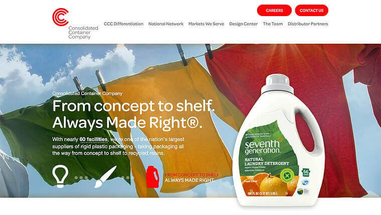 Consolidated Container Company | The Creative Momentum - Web Design & Digital Marketing
