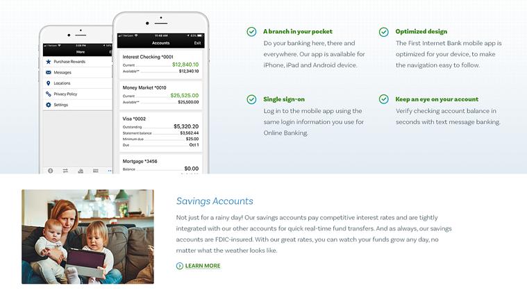 First Internet Bank | The Creative Momentum - Web Design & Digital Marketing