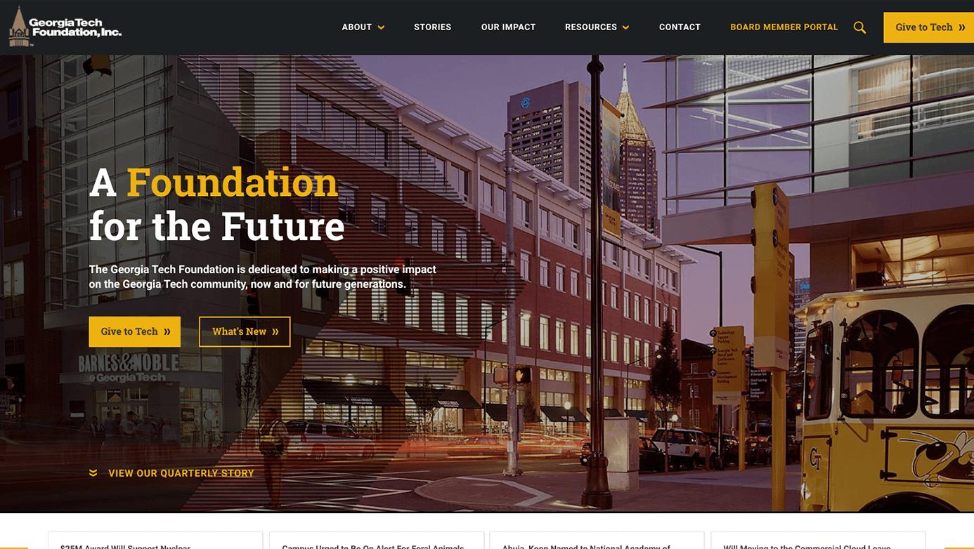 Georgia Tech Foundation | The Creative Momentum - Web Design & Digital Marketing