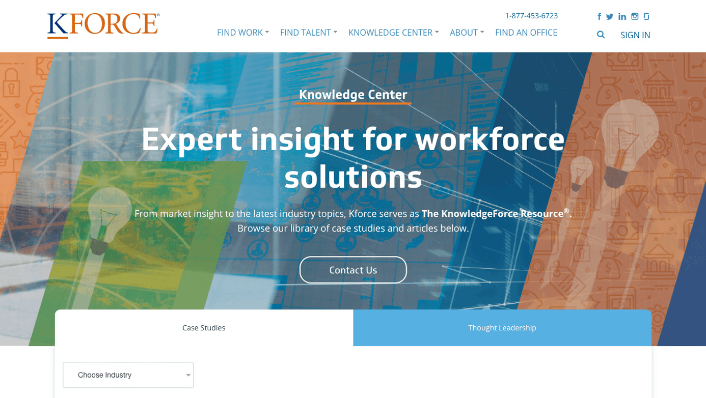 Kforce Company | The Creative Momentum - Web Design & Digital Marketing