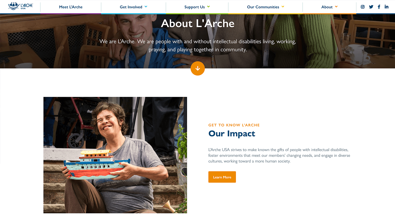 L'Arche | The Creative Momentum - Web Design & Digital Marketing