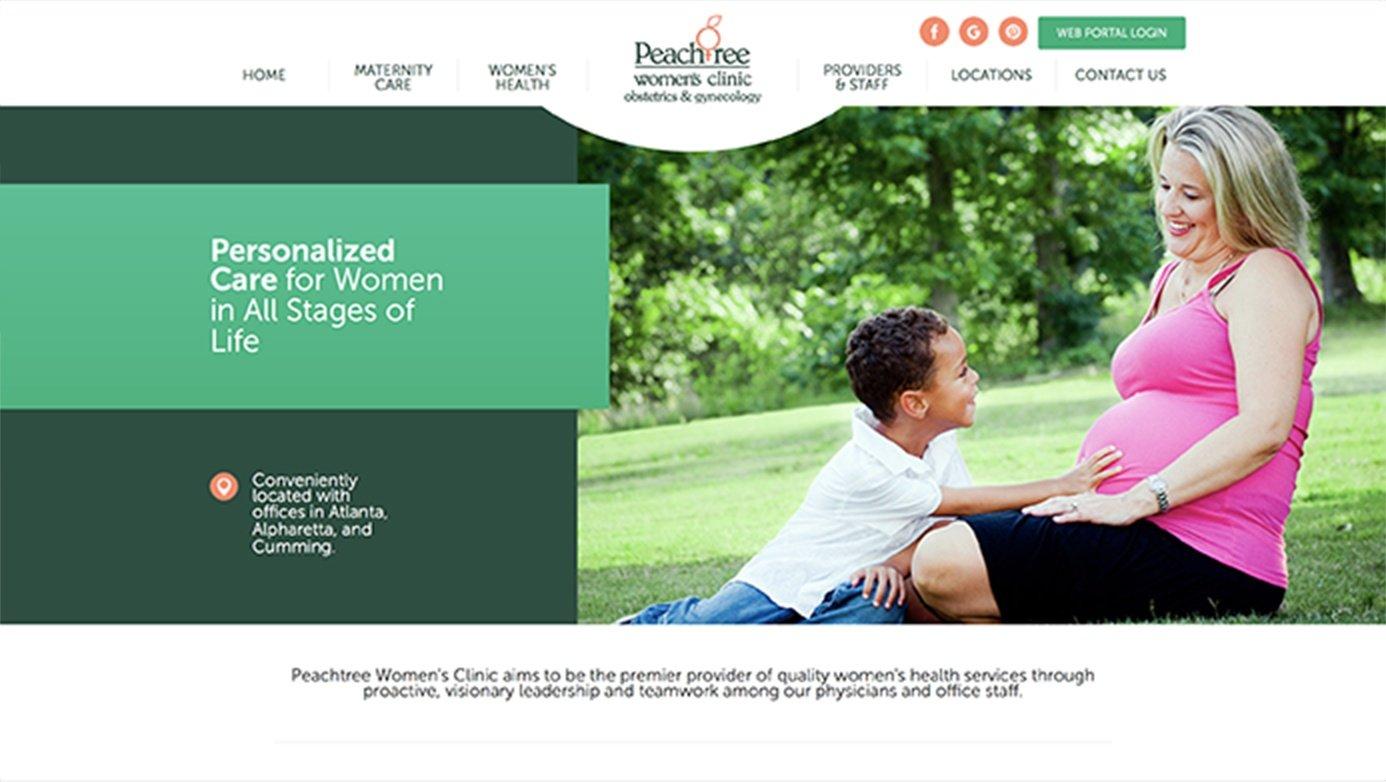 Peachtree Women's Clinic | The Creative Momentum - Web Design & Digital Marketing