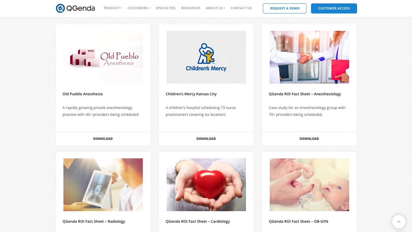 QGenda Company | The Creative Momentum - Web Design & Digital Marketing
