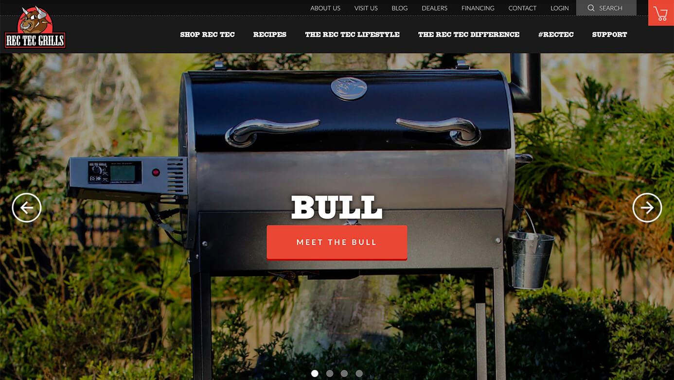 REC TEC Grills| The Creative Momentum - Web Design & Digital Marketing