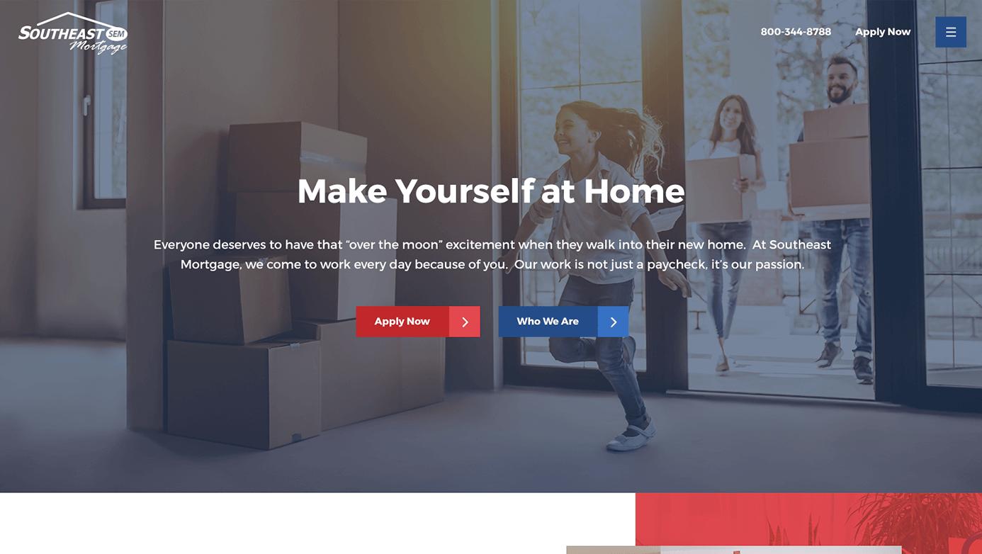 Southeast Mortgage | The Creative Momentum - Web Design & Digital Marketing