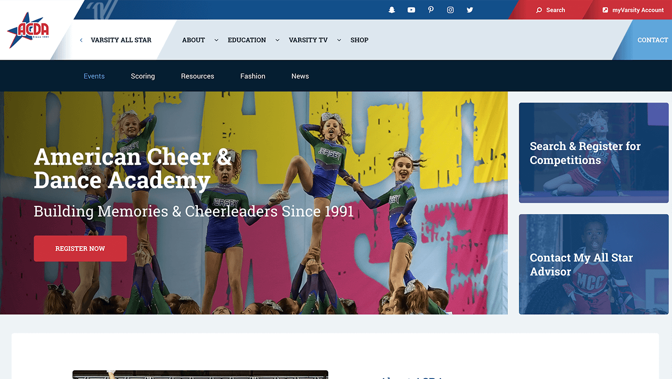 Varsity Brands | The Creative Momentum - Web Design & Digital Marketing
