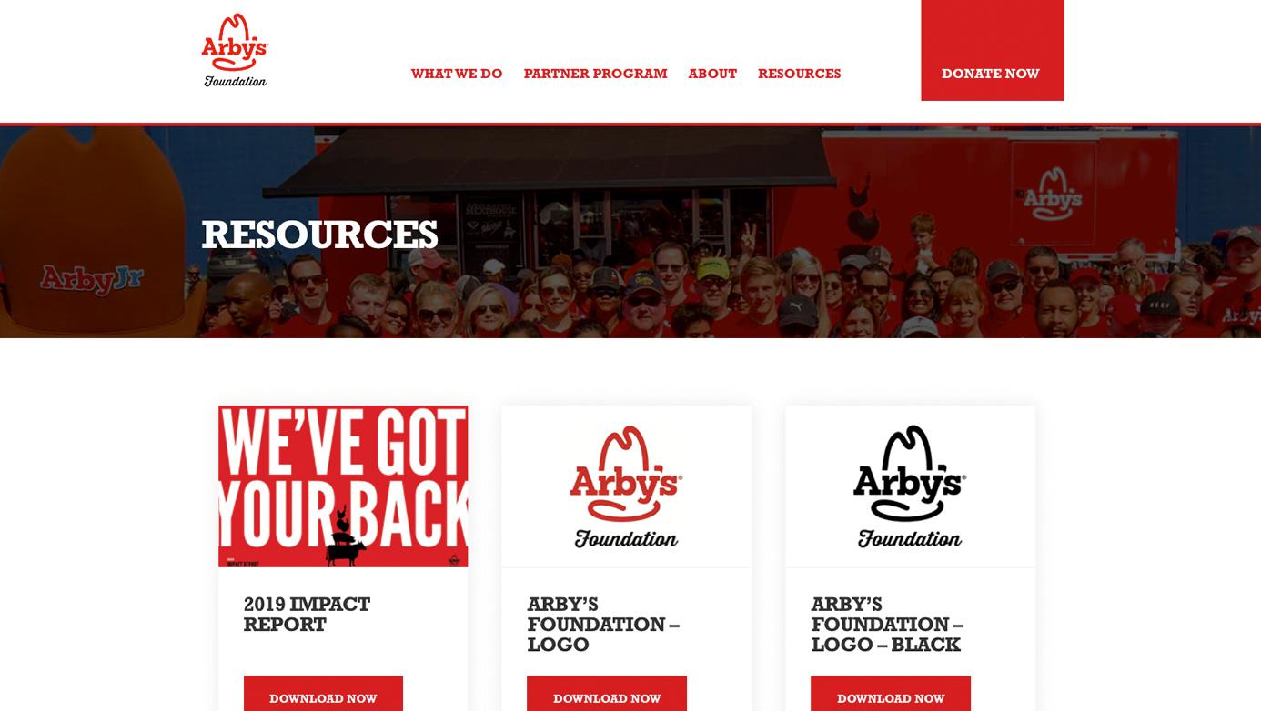 Arby's Foundation   The Creative Momentum - Web Design & Digital Marketing