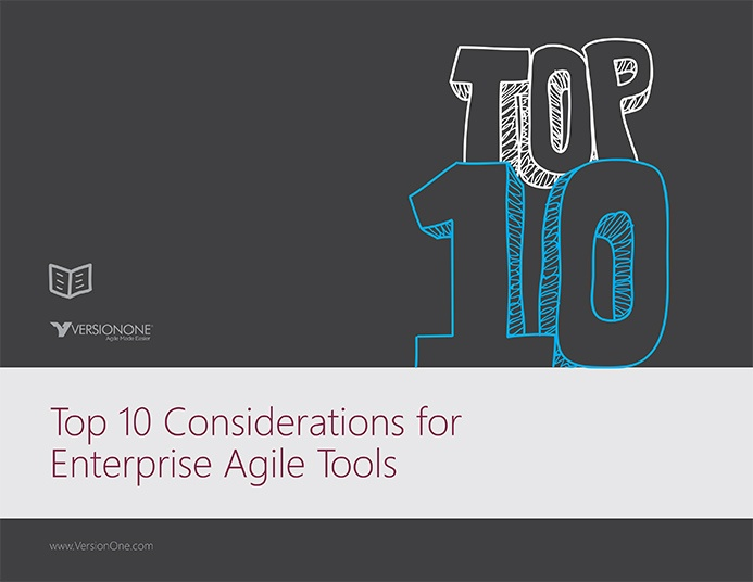 VersionOne custom designed ebook that displays top 10 considerations why to go with agile (VersionOne). Included custom designs, illustrations and page layouts