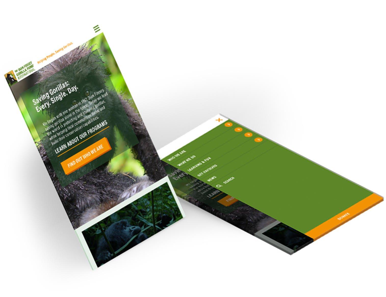 Dian Fossey Custom Wordpress Reponsive Design
