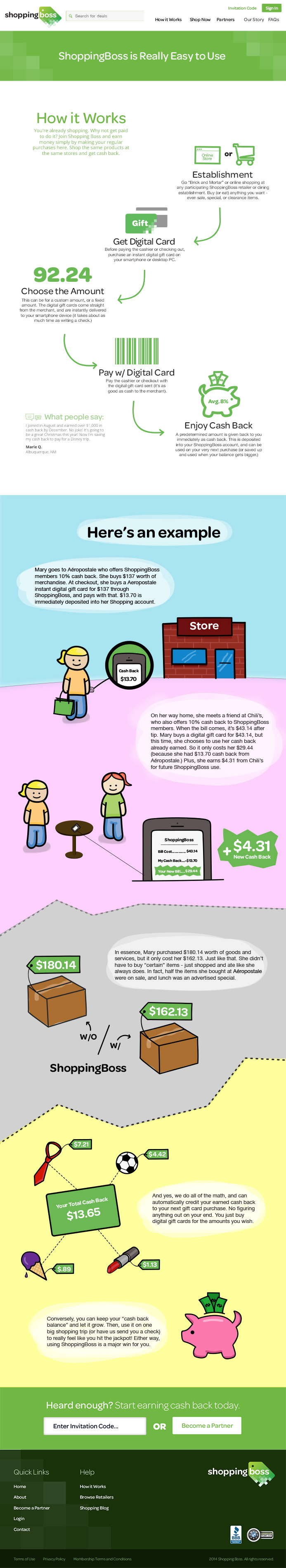 ShoppingBoss custom infograhics and icons