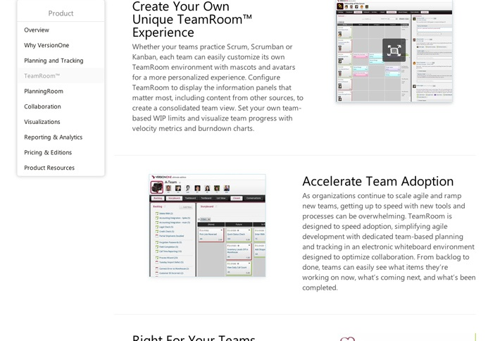 VersionOne custom web design flexible checkered layout. Created from HTML5 and CSS3
